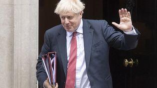 Boris Johnson, le Premier ministre britannique, le 2 septembre 2020, à Londres. (RAY TANG / ANADOLU AGENCY / AFP)