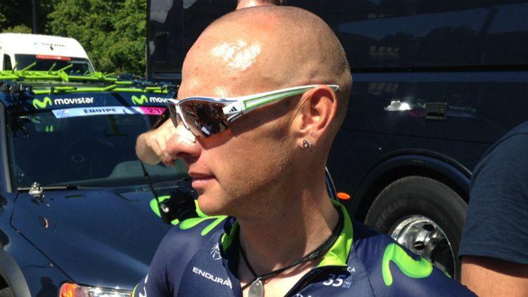 Le coureur français de la Movistar, John Gadret