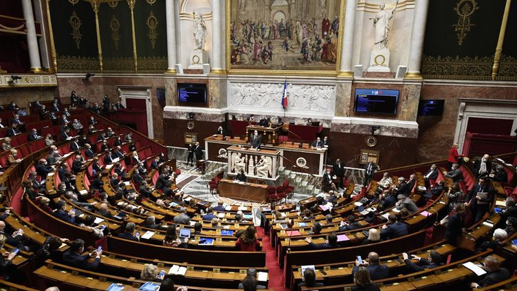 L'hémicycle du Sénat à Paris, le 29 octobre 2020. (BERTRAND GUAY / AFP)