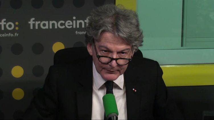 Thierry Breton, sur franceinfo. (FRANCEINFO / RADIOFRANCE)