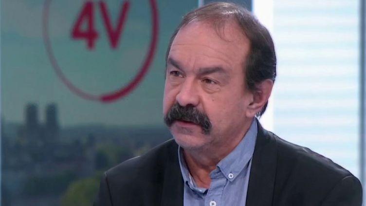 """""""Nous ne sommes pas associés aux décisions"""" : Philippe Martinez est l'invité des 4 Vérités (FRANCE 2)"""