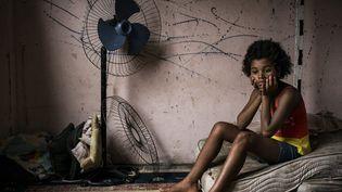 Maria Eduarda (12 ans) vit dans cette chambre, à Jambalay, avec ses 4 frères et soeurs  (Peter Bauza / Echo Photojournalism )
