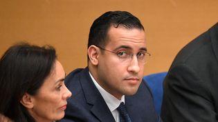 L'ancien chargé de mission de l'Elysée, Alexandre Benalla, le 21 janvier 2019 au Sénat. (ALAIN JOCARD / AFP)