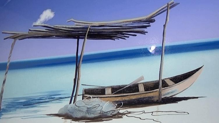 Barque sur la plage  (Capture d'écran/Michèle Battut)