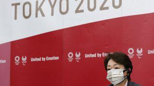 Seiko Hashimoto, la présidente de Tokyo 2020, lors d'une réunion organisée lundi 21 juin. (RODRIGO REYES MARIN / POOL / AFP)