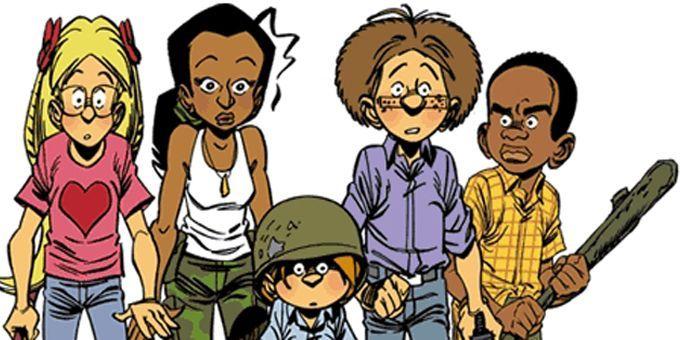 Dodji, Leila, Terry, Camille et Yvan  (Ed Dupuis)