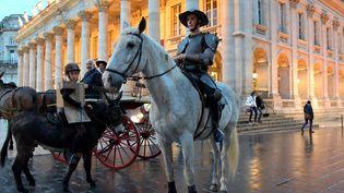 Don Quichotte et son fidèle Sancho Panza devant l'opéra de Bordeaux  (Frédéric Desmesure )