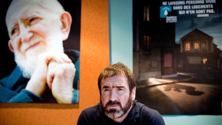 Eric Cantona est un des parrains de la Fondation Abbé Pierre. (MARTIN BUREAU / AFP)