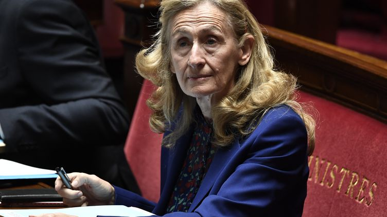 La ministre de la Justice Nicole Belloubet à l'Assemblée, le 16juin 2020, à Paris. (STEPHANE DE SAKUTIN / AFP)