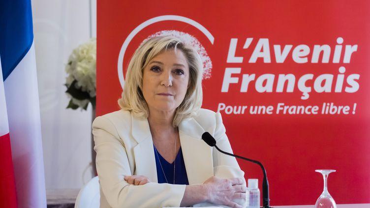 Marine Le Pen lors d'une conférence de presse le 22 mars 2021. (VINCENT ISORE / MAXPPP)