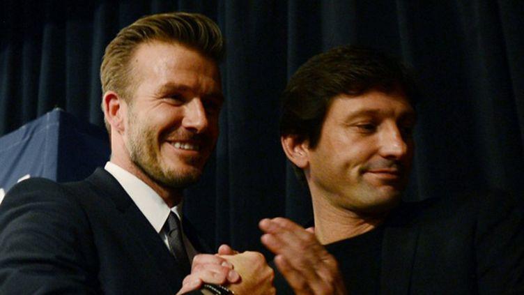 Leonardo et David Beckham (MARTIN BUREAU / AFP)