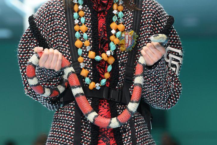 Gucci automne-hiver 2018-19, à Milan, en février 2018  (Getty Images)