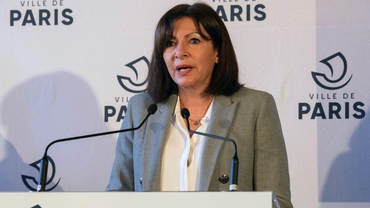 La maire de Paris, Anne Hidalgo, le 1er mars 2021. (JACQUES WITT / POOL / AFP)