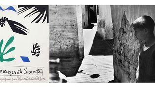"""A gauche, couverture d'""""Images à la sauvette"""" - A droite, Henri Cartier-Bresson, Séville, Espagne, 1933  (Henri Cartier-Bresson / Magnum Photos)"""
