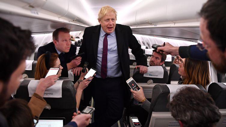 Le Premier ministre britannique Boris Johnson, le 9 décembre 2019. (BEN STANSALL / AFP)