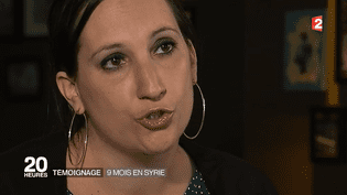 Laura Passoni, repentie de l'Etat islamique, a racontéles mois qu'elle a passé en Syrie à France 2. (FRANCE 2)