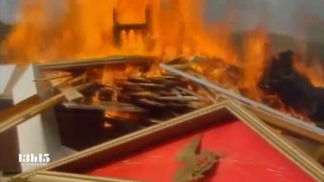 """VIDEO. """"Tout a été brûlé"""" après le massacre en Suisse de 23 adeptes rebelles de l'Ordre du temple solaire en octobre 1994"""