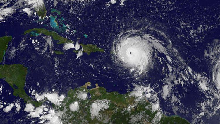 L'ouragan Irma, photographié le 6 septembre 2017 au dessus des Antilles. (DPA / AFP)