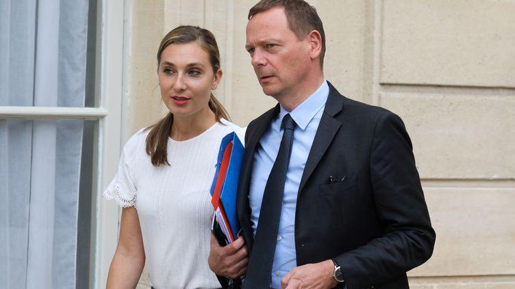 Emmanuel Bonne, le conseiller diplomatique du président de la République, le 24 mai 2019 à l'Elysée, à Paris. (LUDOVIC MARIN / AFP)