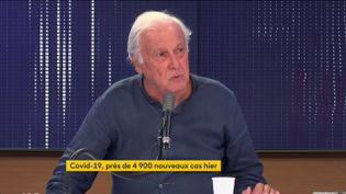 Jean-François Delfraissy était l'invité de franceinfo lundi 24 août 2020. (FRANCEINFO / RADIOFRANCE)