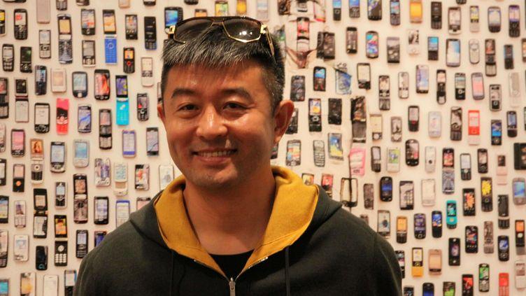 L'artiste chinois Liu Bolin à la Maison européenne de la photographie à Paris (le 5 septembre 2017)  (Ginies / SIPA)