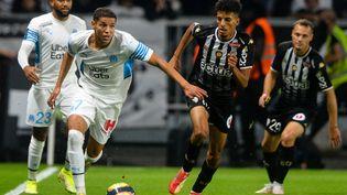 Amine Harit et les Marseillais ont partagé les points avec Angers lors de la 7e journée de Ligue 1. (JEAN-FRANCOIS MONIER / AFP)
