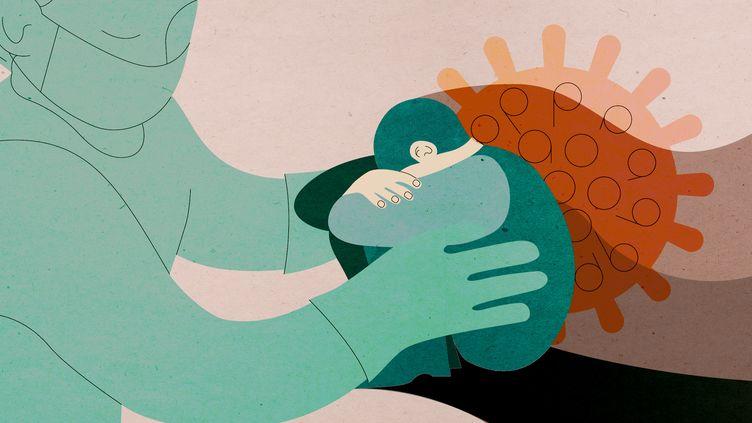 La crise sanitaire liée à l'épidémie de coronavirus a eu de graves répercussions psychologiques chez des personnes fragiles(illustration). (JESSICA KOMGUEN / FRANCEINFO)