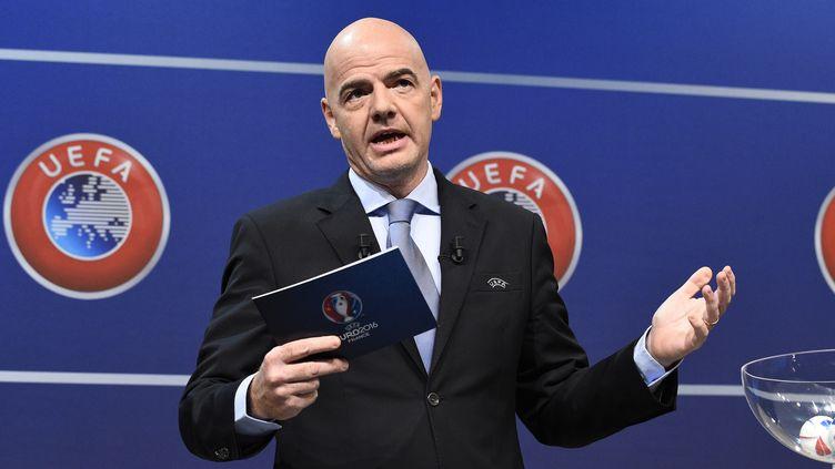 Gianni Infantino, secrétaire général de l'UEFA  (ALAIN GROSCLAUDE / AFP)