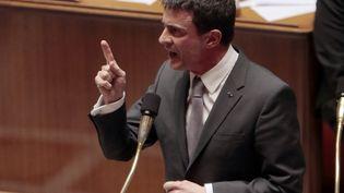 Manuel Vallsà l'Assemblée nationale le 10 mars 2015 (JACQUES DEMARTHON / AFP)
