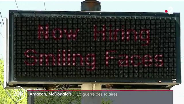Etats-Unis : de McDonald's à Amazon, les entreprises se livrent une guerre des salaires pour tenter d'attirer les travailleurs