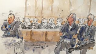 La salle des débats au premier jour du procès dit du Mediator, devant le tribunal correctionnel de Paris, le 23 septembre 2019. (BENOIT PEYRUCQ / AFP)