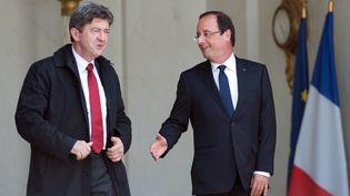 Jean-Luc Mélenchon mardi 5 juin 2012 à l'issue d'une rencontre avec le président Hollande à l'Elysée. (BERTRAND LANGLOIS / AFP)