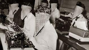 Lors d'un concours de dactylos, en mars 1961 à Paris. (AFP)