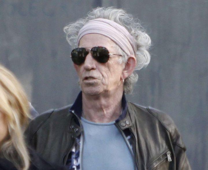 Keith Richards à son arrivée au Trabendo (Paris), jeudi 25 octobre 2012.  (Thibault Camus/AP/SIPA)