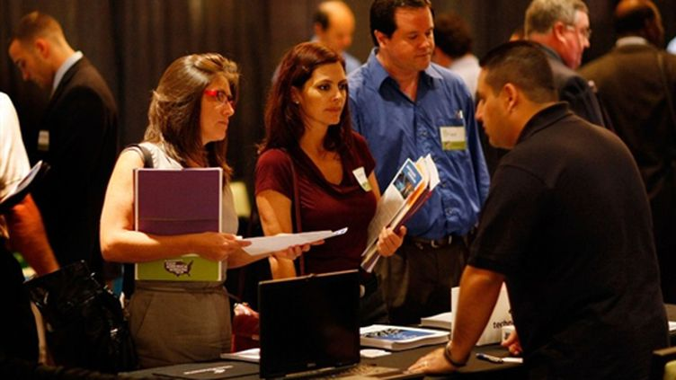 Chercheurs d'emplois à Fort Lauderdale (Floride) (© Joe Raedle/Getty Images/AFP)