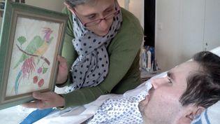 Vincent Lambert, 38 ans,en état de conscience minimale depuis cinq ans, au CHU de Reims (Marne), le 25 juillet 2013. (MAXPPP)