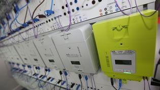 Un compteur électrique Linky,connecté à internet. (MAXPPP)