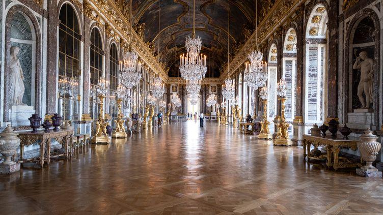 Peu de visiteurs au châteaude Versailles, qui ouvre ses portesen jauge réduitedu fait des mesures sanitaires mises en place pour lutter contre l'épidémiede covid19. Photo prise le11 septembre 2020 (ADRIEN NOWAK / HANS LUCAS)