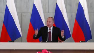 Vladimir Poutine, le président russe, en mars 2018. (ANATOLY MALTSEV / POOL)