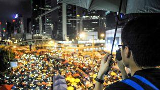 Le mouvement des parapluies à Hong Kong avait duré un peu plus dedeux mois à l'automne 2014. (?QUENTIN TOP/WOSTOK PRESS / MAXPPP)