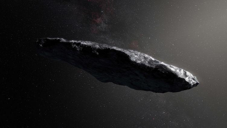 Une vue d'artiste de l'astéroïdeOumuamua. (SIPA)