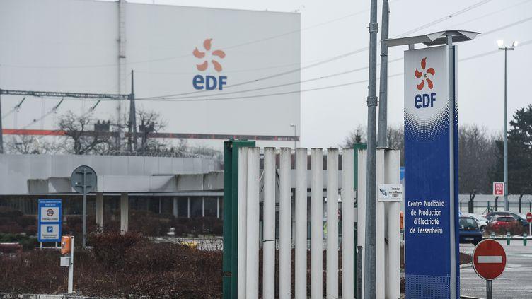 L'entrée du site de Fessenheim. (SEBASTIEN BOZON / AFP)