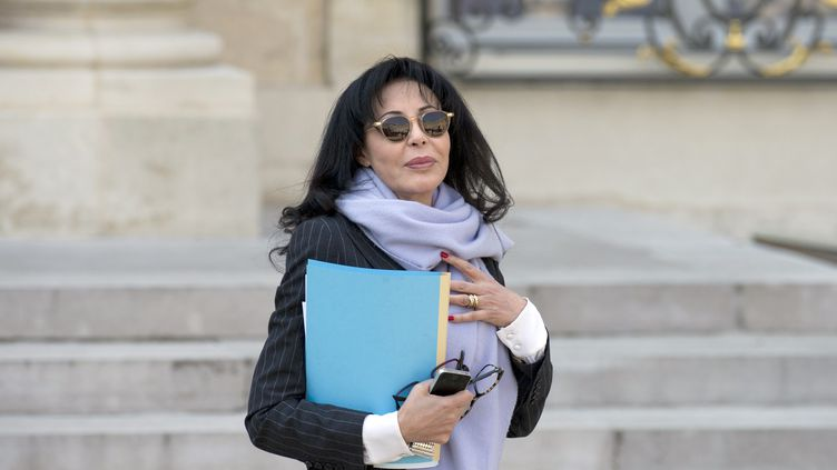 L'ex-ministre de la Francophonie, Yamina Benguigi, à l'Elysée, à Paris, le 26 mars 2014. (ALAIN JOCARD / AFP)