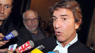 Alexandre Novion, avocat de Thierry Tilly, le 24 septembre 2012 au tribunal de Bordeaux. (PIERRE ANDRIEU / AFP)