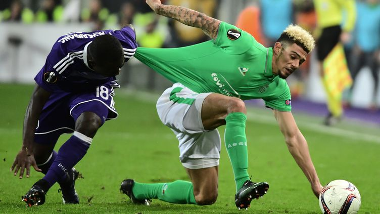 Kevin Malcuit ici face à Anderlecht (EMMANUEL DUNAND / AFP)
