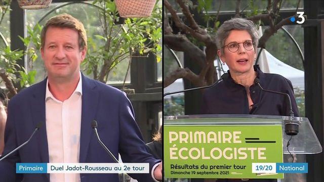 Primaire écologiste : un duel entre Yannick Jadot et Sandrine Rousseau au second tour