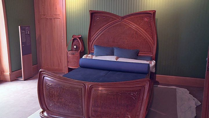 La décoration d'une chambre de la villa Majorelle (France Télévisions)