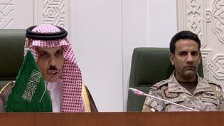 Le ministre saoudien des Affaires étrangères, Faisal Ben Farhan, le 22 mars 2021 à Riyad (Arabie saoudite). (FAYEZ NURELDINE / AFP)