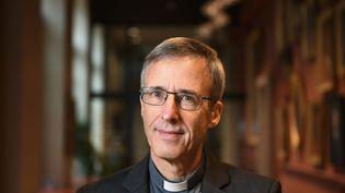 MgrOlivier de Germay, nouvel évêque de Lyon, le 16 décembre 2020. (JO?L PHILIPPON / MAXPPP)