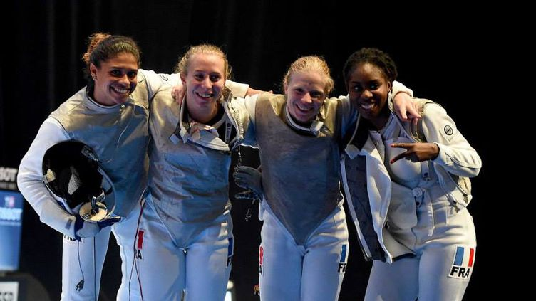Les fleurettistes dames de l'équipe de France  (AUGUSTO BIZZI)